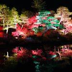 島根県大根島にある日本庭園【由志園】 紅葉イルミネーションが凄かった!